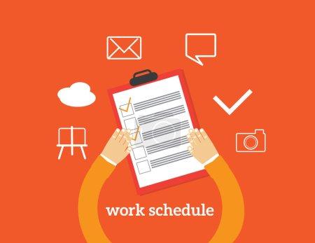 work schedule illustration