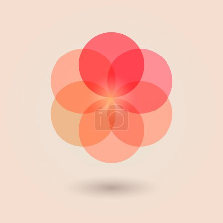 Illustration for Red Flower of Life.Vector illustration - Royalty Free Image