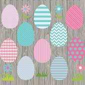 The vector for Easter Eggs Clip art