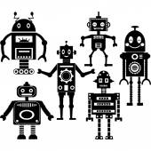 Cute Robot Silhouette Collections