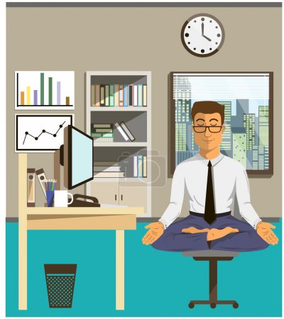 Illustration of the concept of relax and work bala...