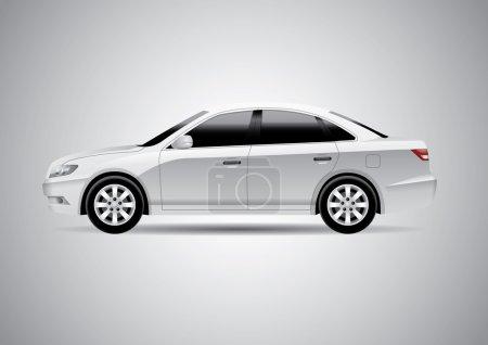 Illustration pour Illustration vectorielle de voiture réaliste . - image libre de droit