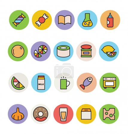 Food Colored Vector Icons 13