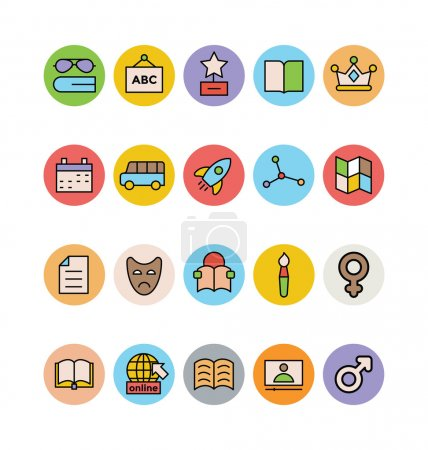 Education Colored Vector Icons 8