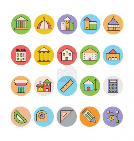 Architecture and Buildings Vector Icons 2