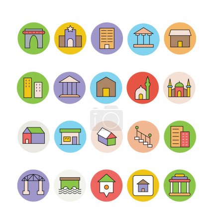 Architecture and Buildings Vector Icons 4