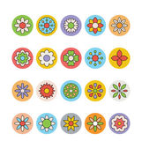 Flowers & Floral Colored Vector Icons 2