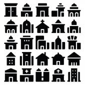 Building & Furniture Vector Icons 7
