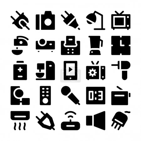 Illustration for This Electronics Icon Pack is absolutely bursting with vector resources that you will love to use for your next technology, electrical appliances and electronics related project. - Royalty Free Image