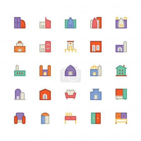 Building & Furniture Vector Icons 5