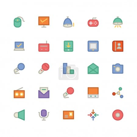 Communication flat bold Vector Icons 12