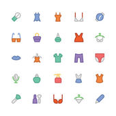 Fashion flat bold Vector Icons 10