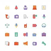 We are offering a new set of Multimedia icons Optimise these icons in your multimedia projects This pack contains equipment of musical and multimedia tools and symbols The most salient feature of these icons is the Scalable Vector Graphics