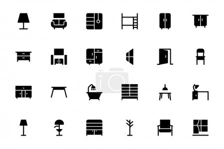 Furniture Hand Drawn Vector Icons 2