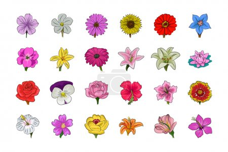 Floral vector icons 1