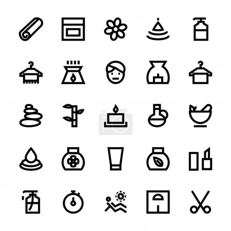 Illustration for We are offering Beauty and Spa icons set, appealing beauty or spa advertisement for the web. If you have website or blog dedicated to those in service of beauty and spa, you can use these icons in your project. - Royalty Free Image