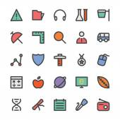 Education Black Outlined Icons 5