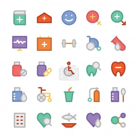 Health Colored Vector Icons 3