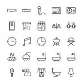 Hotel Outline Vector Icons 1