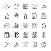 Hotel Vector Outline Icons 14