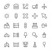 Web and User Interface Outline Vector Icons 15