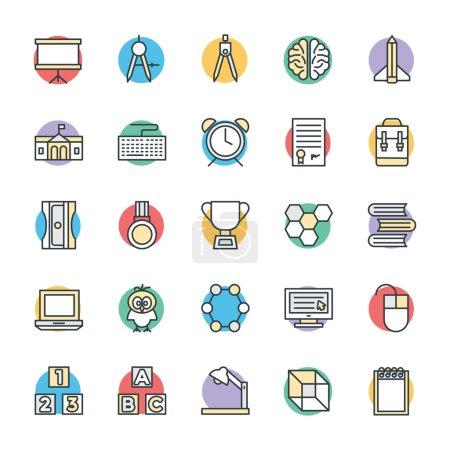 Illustration pour Présentation du pack d'icônes vectorielles éducatives - rempli de plus en plus d'icônes et de symboles éducatifs. J'espère que vous pouvez utiliser ces icônes dans vos projets d'étude et d'éducation . - image libre de droit