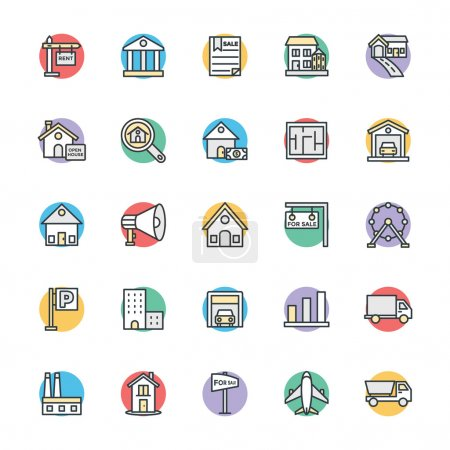 Real Estate Cool Vector Icons 2