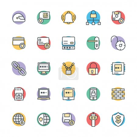 Illustration for Here is useful Security icons. Hope you can find great use for them in web protection, protection shield, security. You will find it better than what you expect. - Royalty Free Image