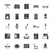 Here is the collection of furniture This icons set is composed to everything related to indoor and outdoor furniture It has various attractive icons that useful for your next projects