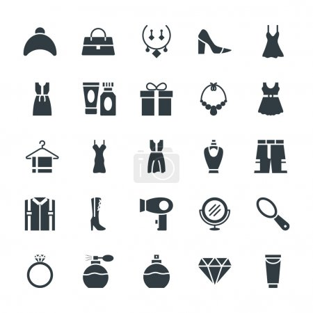 Fashion and Clothes Cool Vector Icons 4