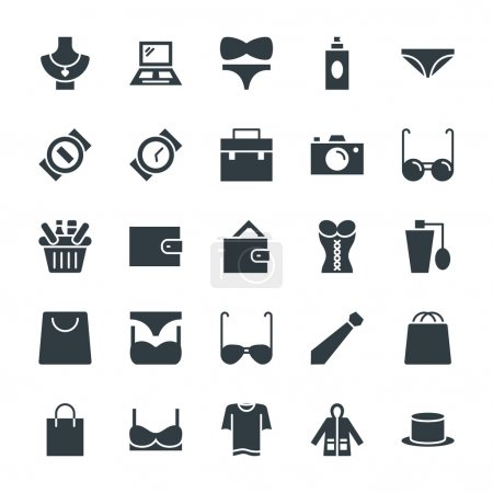 Fashion and Clothes Cool Vector Icons 1