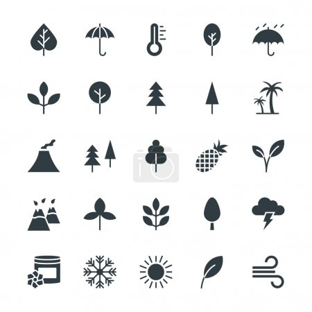 Illustration for Go green with these brand new Nature Colored Vector Icons You will love using these vectors in nature, ecology, environment and sustainability related work - Royalty Free Image