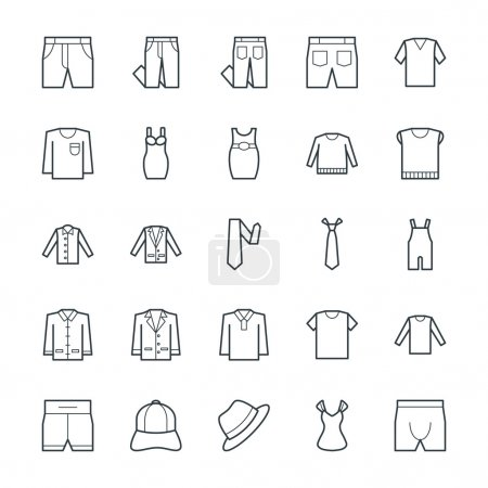 Fashion and Clothes Cool Vector Icons 8