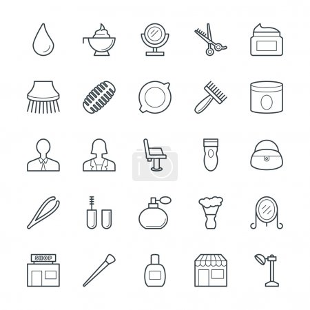 Hair Salon Cool Vector Icons 3
