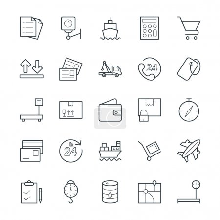 Logistic Delivery Cool Vector Icons 2