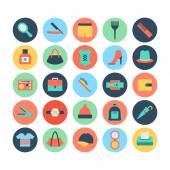 Fashion and Beauty Colored Vector Icons 5