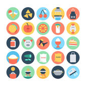 Food Flat Vector Icons 1