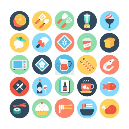 Food Flat Vector Icons 7