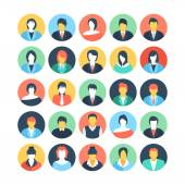 People Avatars Colored Vector Icons 2