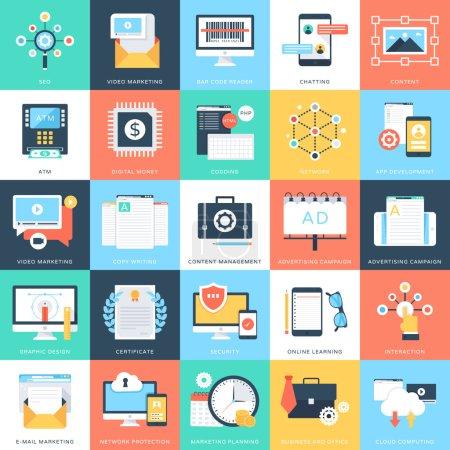 Photo pour Nous apportons des icônes vectorielles de concept d'entreprise pour votre prochain projet de conception d'entreprise. Vous pouvez utiliser ces icônes vectorielles comme vous le souhaitez, l'ensemble sera assez adapté à l'entreprise ou des projets personnels . - image libre de droit