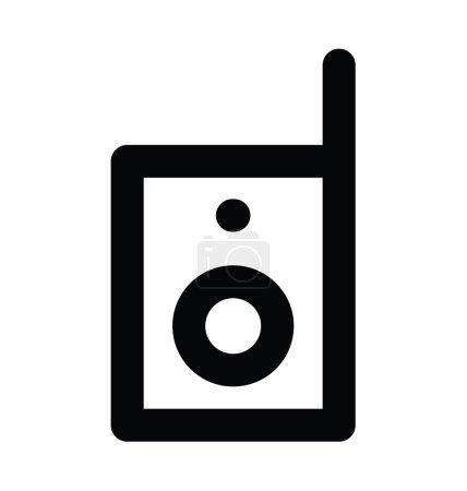 Walkie Talkie Bold Line Icon