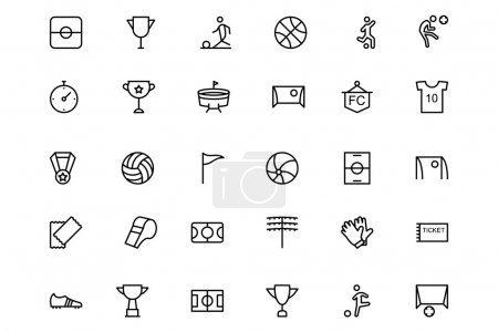 Football Vector Line Icons 1