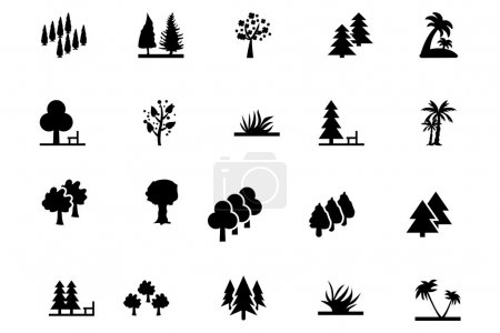 Forest Vector Solid Icons 3