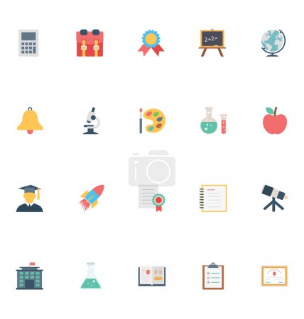Flat Education Vector Icons 2