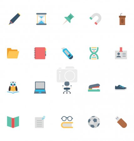 Flat Education Vector Icons 3