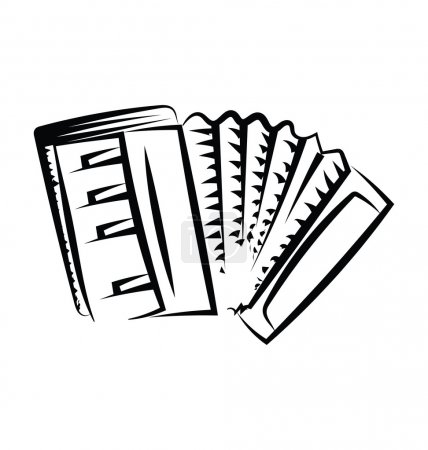 Accordion Sketchy Vector Icon
