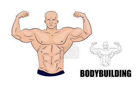 bodybuilder. strong muscular man