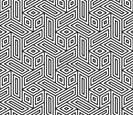 Vector modern seamless geometry pattern trippy, bl...