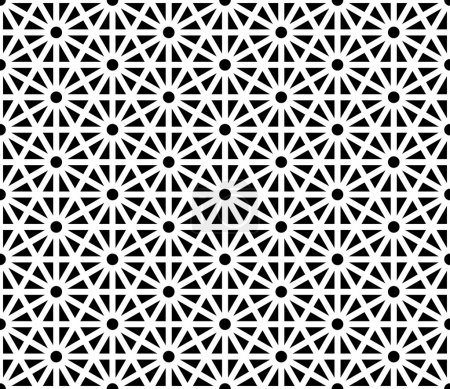 Vector modern seamless sacred geometry pattern, black and white abstract geometric background, trendy print, monochrome retro texture, hipster fashion design