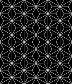 Vektorové moderní bezešvé posvátné geometrie vzorku, černé a bílé pozadí abstraktní geometrická, módní tisk, monochromatický retro textury, bederní módní design
